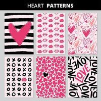 Heart Patterns Set