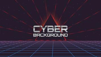 Retro Cyber Technology Background  vector