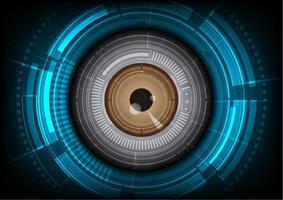 globo ocular com fundo de alta tecnologia vetor