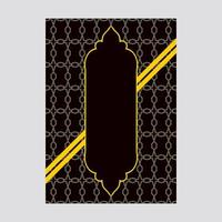 Black and Yellow Luxury Cover design with pattern