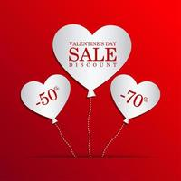 Valentine's Day Sale With Heart Balloons