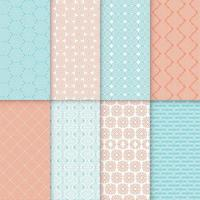 blue and orange seamless pattern collection