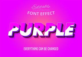3D Purple editable text effect vector