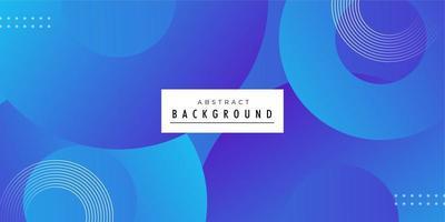 Round shaped modern blue background design