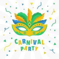 Brazil Carnival Party 2020 Mask and Confetti