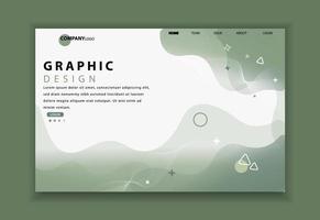 Geometrische Zielseite der Website oder mobilen App
