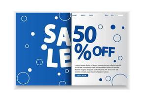 Pagina di destinazione circolare blu in vendita Flash