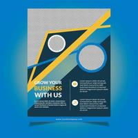 Flyer Design with Angled Lines and Circle Cutouts