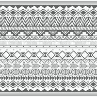 Aztec tribal pattern in lines vector