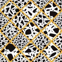 Terrazzo seamless pattern with hand drawn rocks