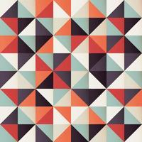 Geometric seamless pattern with retro triangles vector