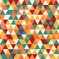 Geometric seamless pattern with colorful triangles