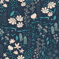 Nahtloses Musterdesign mit Hand gezeichneten Blumen