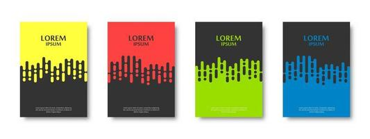 Rounded Lines Pattern Card Set vector