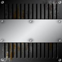 Metallic-Label mit rostiger Entlüftung
