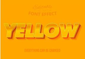 Yellow text, editable text effect