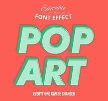 Pop Art Offset Outline text, editable text style