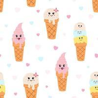 Köstliche Eistüten des nahtlosen Musters
