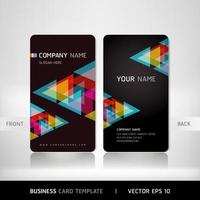 Basic CMYK business Card template vector