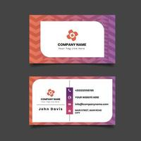 Geometric Pattern Double sided Business Card Template. vector