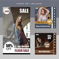 Fashion flash verkoop moderne sociale media postontwerp