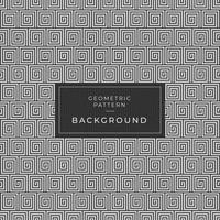 Grecian pattern square spiral illusion background vector