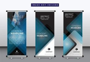 Layered Diamond Roll Up Banner Vorlagensatz