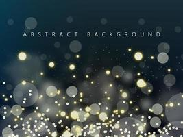 Abstract Glowing Lights on Dark Background vector
