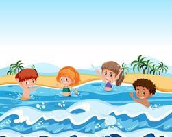 Barn på sommarlovet