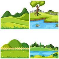Uppsättning av naturlandskap