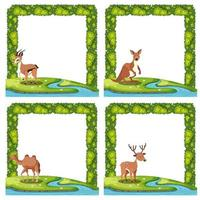 Set of animal nature border