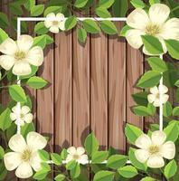 Weiße Blume auf Holzbrett vektor