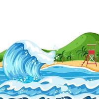 Uma simples paisagem de praia no verão vetor