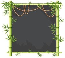 Eine grüne Bambusfahne vektor