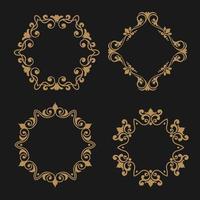 Decorative frames collection vector