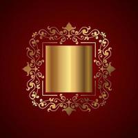 Elegant background with decorative gold frame  vector