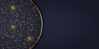Design elegante banner com pontos dourados