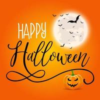 Halloween background with decorative text