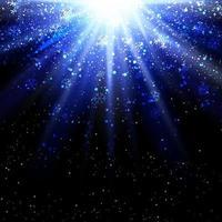 Julsnöflingor på starburst bakgrund
