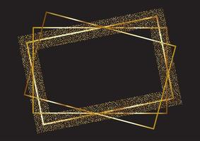 Glitter frame background  vector