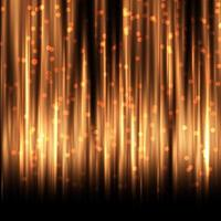 Golden curtain with bokeh lights