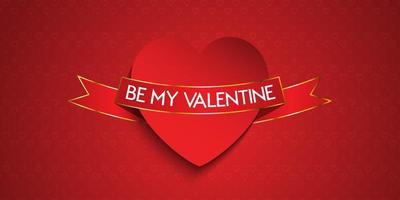 Elegante diseño de banner del día de San Valentín