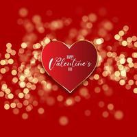 Fondo del día de San Valentín con corazón en diseño de luces bokeh 1812