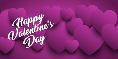 Valentines Day banner with heart design  vector