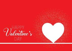 Fondo de San Valentín con corazón y confeti