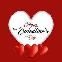Valentindagbakgrund med utklippshjärta