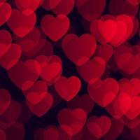Aftelkalender voor Valentijnsdag achtergrond met bokeh harten ontwerp
