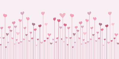 valentines day banner with abstract hearts design  vector