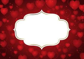 Valentines Day background with decorative frame vector