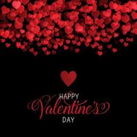 Decorative Valentines Day background with hearts vector